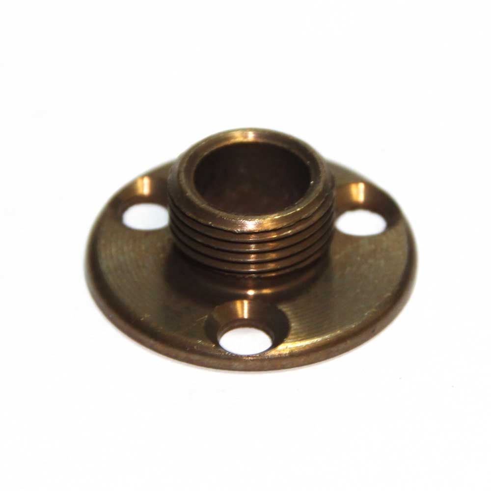 x 26tpi Solid Brass Lamp Holder Fixing Plate Antique Finish
