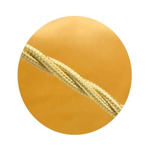 0 50mm 3 Core Pale Gold Silk Covered Flexible Cable