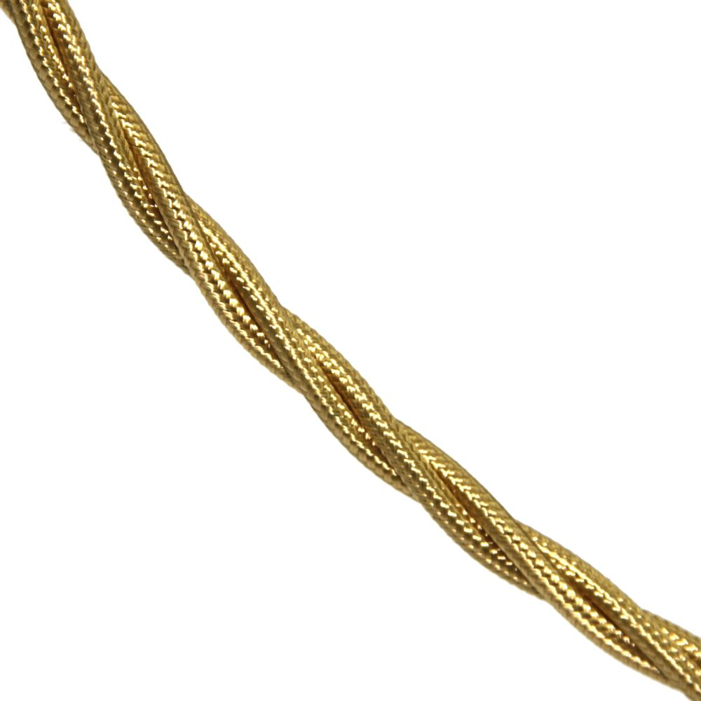 5 Metre Pack 0 75mm 3 Core Pale Gold Silk Covered Flexible