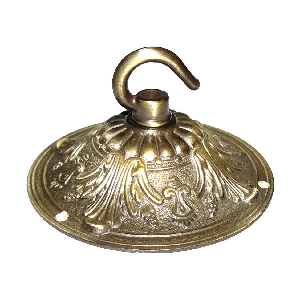 99mm Solid Brass Brushed Antique Finish Hooked Ceiling