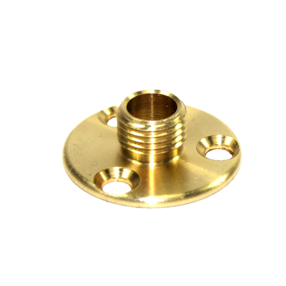 M10x1mm Pitch Solid Brass Lampholder Mounting or Fixing Plate