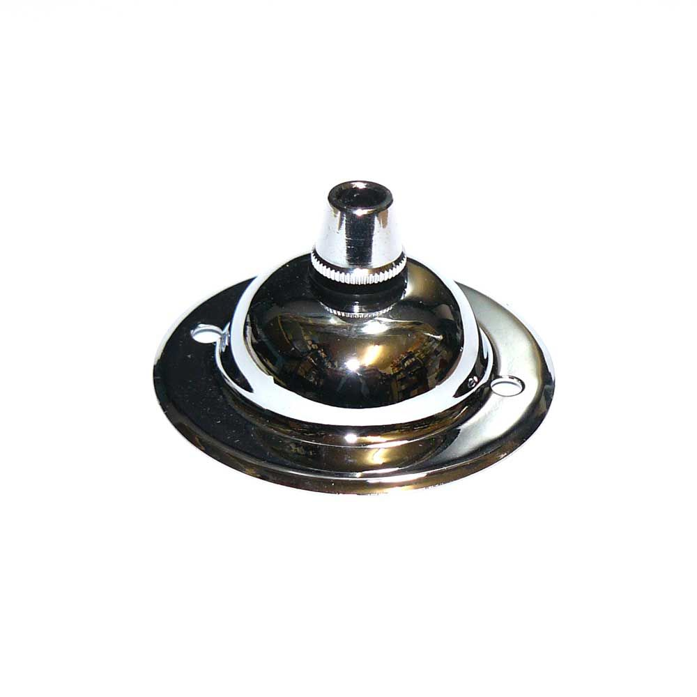 Solid Brass Chrome Plated Ceiling Rose Plate C W Cordgrip