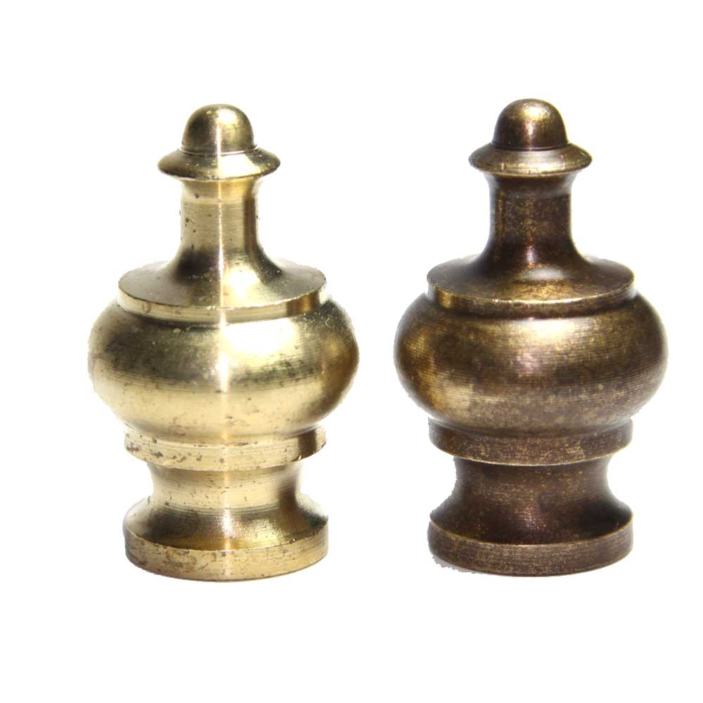 Solid Brass Crown Finial 10mm Thread